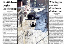 Irene front pages (2011) / The first week of coverage before, during and following Hurricane/Tropical Storm Irene and the subsequent flooding in southeastern Vermont.  / by Brattleboro Reformer