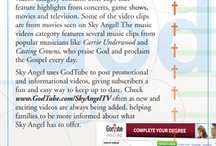 Find Us / Follow Us / by Sky Angel Faith & Family Television
