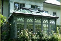 Ideas for Future Conservatory/Greenhouse / Conservatory, greenhouse, sun room, year round gardening / by Caitlin K