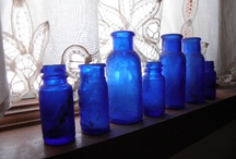 Cobalt Blue / Cobalt blue is a cool, slightly desaturated blue color, historically made using cobalt salts of alumina. The first recorded use of cobalt blue as a color name in English was in 1777. / by Vanessa Knijn