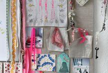 Studio Love / Office, workspace, craft room, art studio, sewing room  / by Samantha Speer {Sweet Jeanie's Cakes}