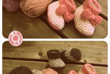 Crocheted baby booties / by Susanna Eslin