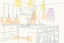 Kitchen lighting / by Tina Almario
