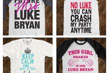 Luke Bryan shirts / by Katie Gooch