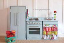 Play kitchen ideas / by Allison Hand
