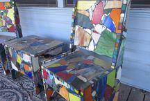 Bits & Pieces Mosiacs / Art mosiacs / by Mairi Krausse