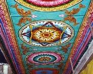 Hindu and Buddhist Mandalas  / man·da·la (Noun)  Noun: A geometric figure representing the universe in Hindu and Buddhist symbolism.  Such a symbol in a dream, representing the dreamer's search for completeness. / by Lynette Larson Campbell