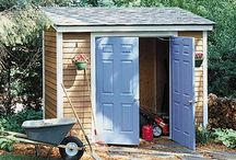 Shed Plans & Building Kits / Find Shed Blueprints, Building Kits, Prefab Sheds, Free Shed Plans and Shed Design Inspiration to Help You Have the Best Shed, Mini Barn, Studio or Shop in Your Backyard / by Don @ Today's Plans