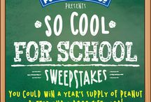 So Cool For School Sweepstakes / by PeanutButterCo