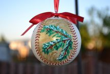 hand painted baseball ornaments / by Cake Pop Charm