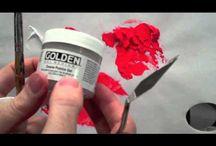 acrylic mediums / by Cindy Arnold