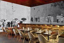 Wall graphics for Restaurants concepts by Veronica Van Gogh Design / environmental graphics / by Veronica Van Gogh