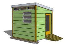 Converting backyard shed / by Marlene Koncewicz