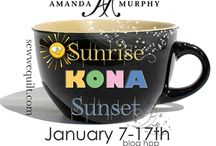 Wake up to  a bit of Sunrise /Sunset  KONA Blog hop / What a splash of colour we have for YOU in January. Join us with Amanda Murphy, CT Publishing and Robert Kaufman. Carol will be cheering us all on, she will wake us all up with  her humour and no doubt colourful creations…. / by Mdm Samm ...