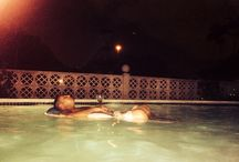 The good life / Wine relaxing pool warm summer night / by Melissa Ann