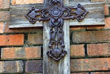Crosses..... ( I love to collect and make crosses) / by Renea' Cobourn