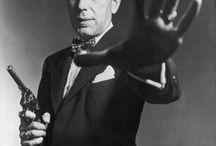 "MY BOGART, H.  12/25/1899-1/14/1957 / aka Humphrey DeForest Bogart, ""Bogie"". Married to Lauren Bacall. Cause of death: Esophageal cancer. / by bob spear"