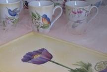 porcelana pintada a mano / by Kreaciones Krysia Misa