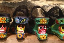 Vida Dulce Footwear / Funky and eclectic footwear using fabrics and carvings of the Guatemalan artisans.   / by Vida Dulce by Kristen