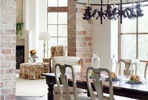 Dining Room / Rustic, comfy w/ girlie accents / by Kate Geary-Carickhoff