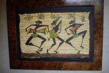 "SAID BOUSABA & BLACK ZITOUN""BEST BLACK AFRICA's ARTIST IN ESSAOUIRA / TOP AFRICA ART WORK UNIQUE ""MOOVE"" and unique ganwas artist painter in Essaouira! by black zitoun / by Coolest Riads"
