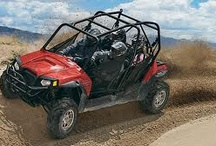 World of ATV's  / All terrain vehicles, or ATV for short, brings the outdoors to life in a unique way. There is no greater feeling than the wind whipping against hair and skin. Standard cars keep you disconnected from the beauty and thrills of nature,  not the case with the ATV.  An ATV is meant to go off the road, on all sorts of terrain. This ability makes them easy to ride and fun to drive! / by rentzio