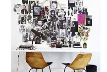 Inspiration | Art Walls / Walls covered with art = happy walls / by Jessica @ Black. White. Yellow.