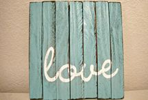 Signs and wood crafts / by Melissa Basler