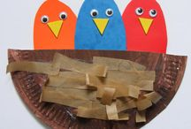 Letter N: nest (birds) / by Izzie, Mac and Me