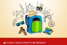 In My Backpack! Contest / Love Traveling? Show us what all you carry in your backpack! / by HomeShop18