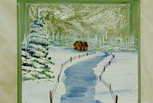 Glass, Terra Cotta, Bricks Painting / by Peggy Jones