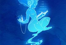 Futuristic & Spacey Illustrations / by Laurel Doub