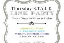 Thursday S.T.Y.L.E. Link ups! / Links from our weekly link parties with A Prudent Life, Well-Groomed Home, Life In Velvet, and Addicted 2 DIY / by Katie {Addicted 2 DIY}