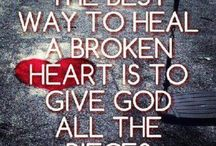 Quotes: Broken Hearted / Healing broken  hearts the other person rips out of your chest.....without even caring??? / by Gwen