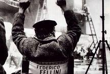 Italian Icons: Federico Fellini / Federico Fellini (Rimini, 20 gennaio 1920 – Roma, 31 ottobre 1993). / by Ulaola