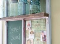 what to do with all my old windows / by Kelly Dykstra