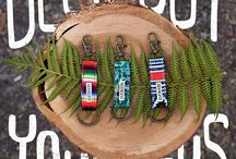 Keychains / Deck out your keys with a limited edition Pura Vida Keychain. Complete with original Pura Vida artwork, a brass spring clasp and an o-ring for easy attachment to your keys. It's the perfect accessory to make your key ring all sorts of happy! / by Pura Vida Bracelets