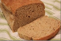 Good Eats -- All About Bread / My honey has fallen in love with making bread. Sometimes he puts it in the bread machine overnight and we wake up to the smell of it. Hand-made bread and bread machine bread talked about here.  / by Beth Pearce