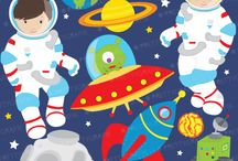 Outerspace graphics and party ideas / by Mygrafico Digitals