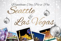Wyndham City Pic n' Pin / WorldMark by Wyndham brings you cityscapes and landmark images from our urban resort locations. Can you find the Seattle and Las Vegas images? Pic n' pin your favorites! / by WorldMark by Wyndham
