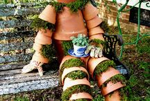 Cute gardens and pot people / by Leticia Jerguson