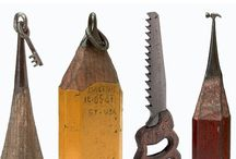 Mini Michaelangelo / Using nothing more than sewing needle and metal blade, Brazilian-American Dalton Ghetti sculpts discarded pencils into exquisitely tiny objets d'art. Hewing graphite as hobby and meditation, the master pencil sharpener's   carvings are not for sale.   / by Eric Muller