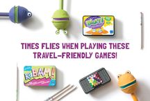 Travel Games for Kids / Cars, trains and planes, OH MY! Keep kids smiling and learning with these travel-friendly games and activities.  / by Educational Insights