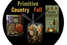 *** PRIMITIVE FALL / Primitive Country-Autumn, Halloween Thanksgiving / by Dandy Mariella