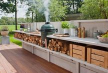 Outdoor kitchen  / by Tom Thorson