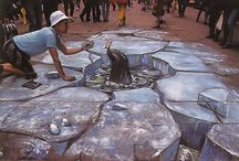 sidewalk art / by Carol Hotte