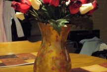 Flower arrangements and Christmas Decorations by Donna's Creations / Assorted flower arrangements and Christmas Decorations and hand-painted vases by Donna :-)  / by Donna O'Connor