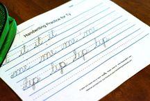 cursive handwriting / by Rita Muller