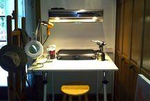 Encaustic art and studios / by Shelia Gilkeson