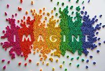 Imagine all the colors / Arc en ciel multicolore rainbow / by Sophie Undreiner
